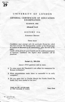 History IIA A-Level - 1966