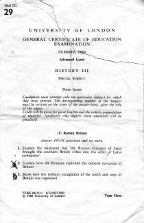 History III A-Level - 1966