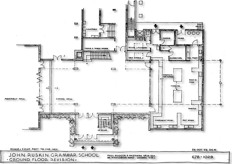 Jrgs perspective and plan drawings for Kitchen dining hall design
